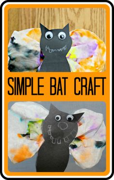 Simple Bat Craft for Kids from www.fun-a-day.com