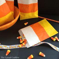DIY Candy Corn Treat Bags