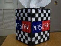 Nascar tissue box cover. $5.00, via Etsy.