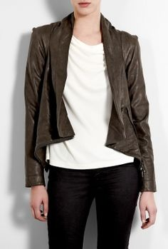 Brown Leather Bounty Jacket by Vivienne Westwood Anglomania
