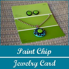 chips, paint chip cards, gift, jewelry displays, paint colours, product display, earring, paint samples, paint chip crafts