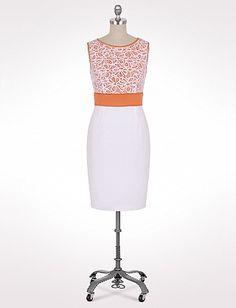 Lace Top Sheath Dress | Dressbarn