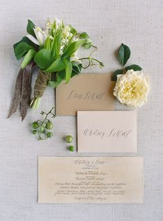 Neutral on neutral wedding stationery. Photography: Jose Villa - josevillablog.com View entire slideshow: Fall Wedding Inspiration on http://www.stylemepretty.com/collection/602/