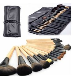 Professional 24 Piece Makeup Brush Set With Case  - $22.00