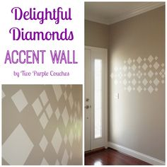 Idea: Maybe use real mirrors. Delightful Diamonds Accent Wall by Two Purple Couches