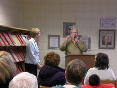 Brookings Public Library celebrates Centennial - Elvita Landau emcees a program with speakers, #SDSLCornerstone