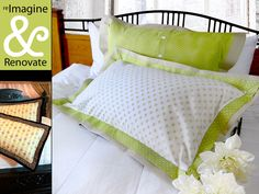 Re-imagine & Renovate: Double-Flange Pillow Shams in Spring Cottons | Sew4Home