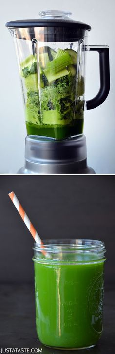 How to Make Green Juice In a Blender #recipe #healthy #video