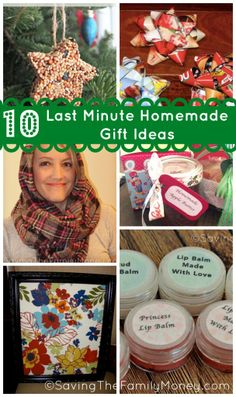 10 Last Minute Homemade Gift Ideas