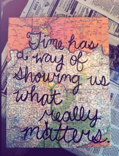 DIY map on canvas with quote I made! So proud of my crafting skills. #quote #map #craft