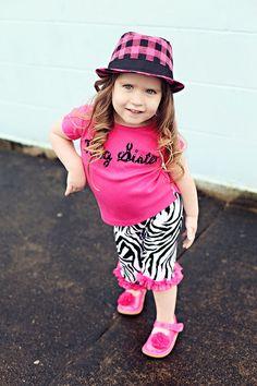 Boutique Big Sister Shirt w/Matching Zebra Pants!!!