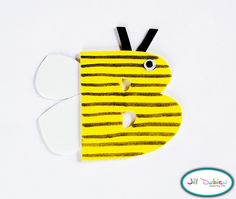 B alphabet craft. letter craft, felt crafts, abc crafts, alphabet letters, alphabet crafts, wooden letters, foam crafts, bumble bees, animal crafts