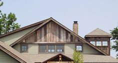barn board siding on a new house