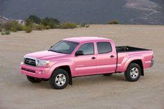 Pink Toyota Tacoma