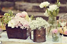 garden wedding florals