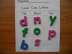 The Daily Cupcake....a Kindergarten Blog: Word Work....Daily 5 Chapter 6