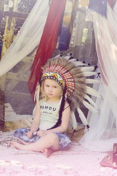 good playing in a teepee outfit.