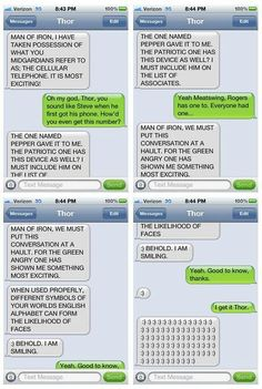 Thor should never have an iPhone...Amazing.