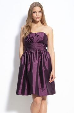 Taffeta darling!  No, the dress is taffeta.  It wrinkles so easily...  (Not my favorite.  Just wanted to use the line.)