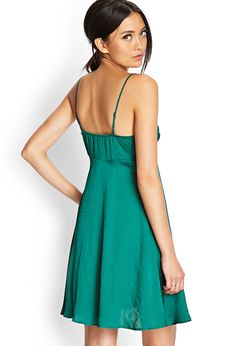 Sleek Lace-Trimmed Slip Dress | Dresses | Women - 2000061548 | Forever 21 EU