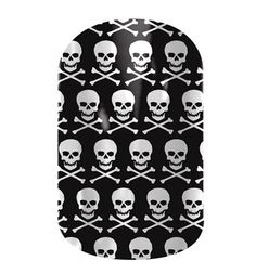 Jamberry Nail Shields, Nail Wraps -Jamberry Nails skulls!! Click here to buy!
