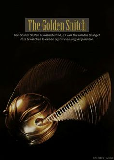 The Golden Snitch is walnut sized, as was the Golden Snidget. It is bewitched to evade capture as long as possible.