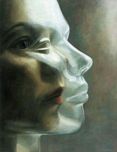 Deenesh Ghyczy // 'Maske' (2003)    Acrylic on canvas