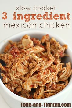 Slow Cooker 3 Ingredient Mexican Chicken on MyRecipeMagic.com