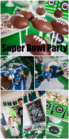 Great ideas at this Super Bowl football party for kids! See more party ideas at CatchMyParty.com.