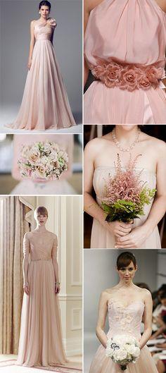 Novias en color rosa – tendencias bodas 2014