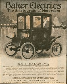 Baker Electric Cars, 1910.