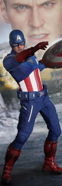 Captain America Sixth Scale Figure - The Avengers movie version