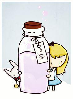 drink me by ~agusmp on deviantART (Alice)