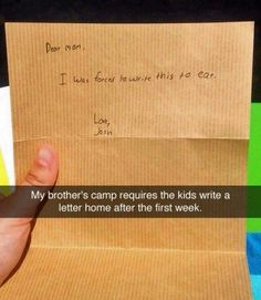 We cannot handle all the emotions in this summer camp letter.
