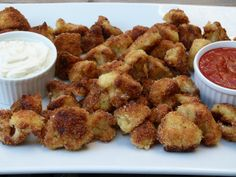 crunchy cauliflower recipe -- you can bake these!