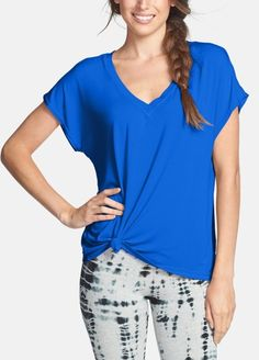 This slouchy v-neck tee is perfect for the gym!