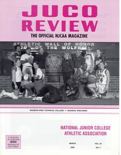 Madison College Athletics makes the cover of JUCO Review (March, 2003)