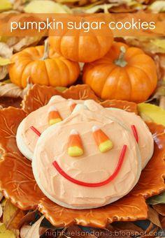 Pumpkin Sugar Cookies.