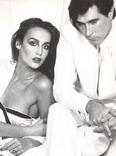 Bryan Ferry and Jerry Hall, 1970s.