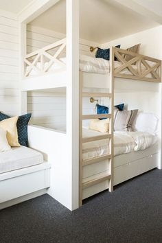 Built in twin bunk b