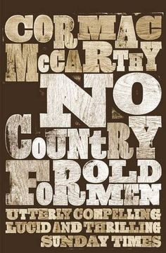 The Book Cover Archive: No Country For Old Men, design by David Pearson