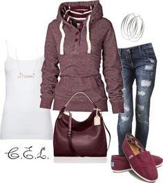 I found 'Burgundy Outfit' on Wish, check it out!