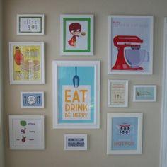 kitchen wall art..LOVE! Next project