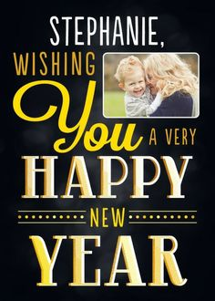 Welcome Wish - New Year Greeting Card in Black   Magnolia Press