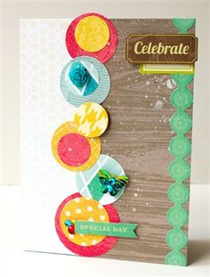 Cute circles on this card from SusanWeinroth on Club Creating Keepsakes.