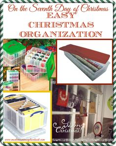 Easy Christmas Organization - the best tips for storing, organizing and displaying your Christmas decorations! www.moderncommonplacebook.com