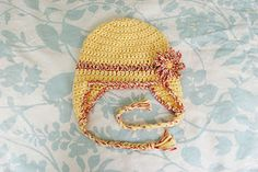 Alli Crafts: Free Pattern: Baby Earflap Hat - 6 months