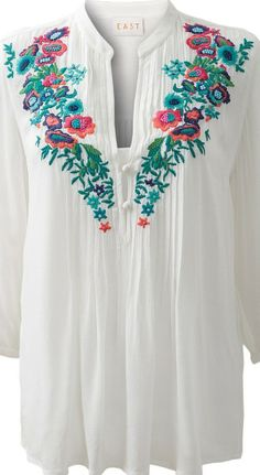 Folk embroidery trend - You can't go wrong - it's a great look - #white #fashion - article