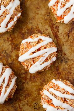 7-Ingredient Chewy Carrot Cake Cookies (Gluten Free, Dairy Free, Refined Sugar Free, Yeast Free, Corn Free, Grain Free)  Prep Time: 10 mins  Cook Time: 15 mins