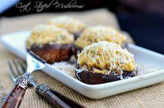 Crab Stuffed Mushrooms 2 (c) willcookforsmiles.com #crab #seafood #appetizer